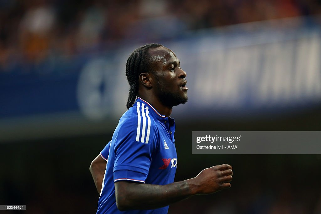Victor Moses of Chelsea during the preseason friendly between Chelsea and Fiorentina at Stamford Bridge on August 5 2015 in London England