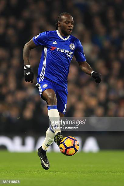 Victor Moses of Chelsea in action during the Premier League match between Chelsea and Hull City at Stamford Bridge on January 22 2017 in London...