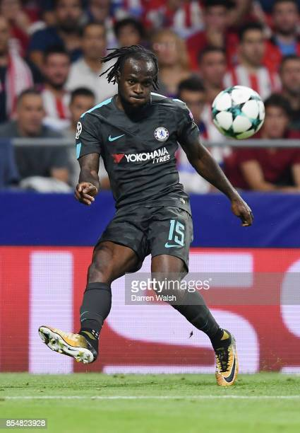 Victor Moses of Chelsea in action during the UEFA Champions League group C match between Atletico Madrid and Chelsea FC at Estadio Wanda...