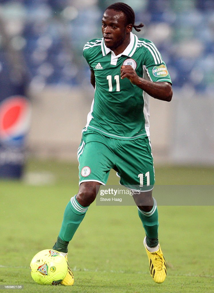 Victor Moses of Nigeria during the 2013 African Cup of Nations Semi-Final match between Mali and Nigeria at Moses Mahbida Stadium on February 06, 2013 in Durban, South Africa.