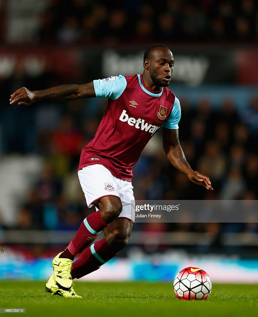 Victor Moses of West Ham United in action during the Barclays Premier League match between West Ham United and Newcastle United at Boleyn Ground on...