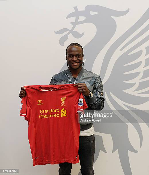 Victor Moses signs a contract for Liverpool Football Club at Melwood Training Ground on September 2 2013 in Liverpool United Kingdom
