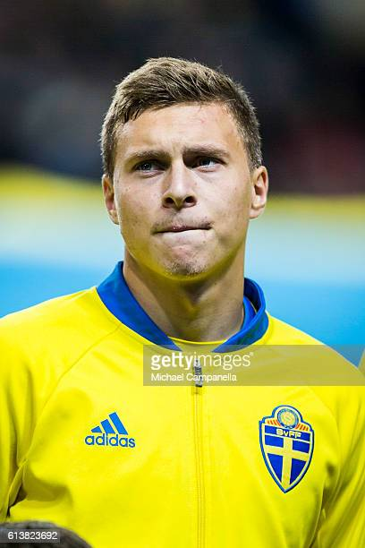 Victor Nilsson Lindelof of Sweden during the 2018 FIFA World Cup Qualifier match between Sweden and Bulgaria at Friends Arena on October 10 2016 in...