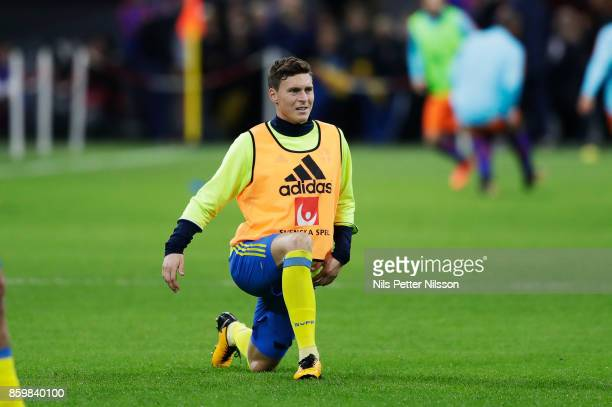 Victor Nilsson Lindelof of Sweden during warmup ahead of the FIFA 2018 World Cup Qualifier between Netherlands and Sweden at Amsterdam ArenA on...