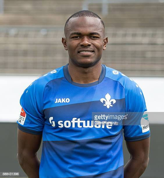 Victor Obinna poses during the Darmstadt 98 Team Presentation on August 11 2016 in Darmstadt Germany
