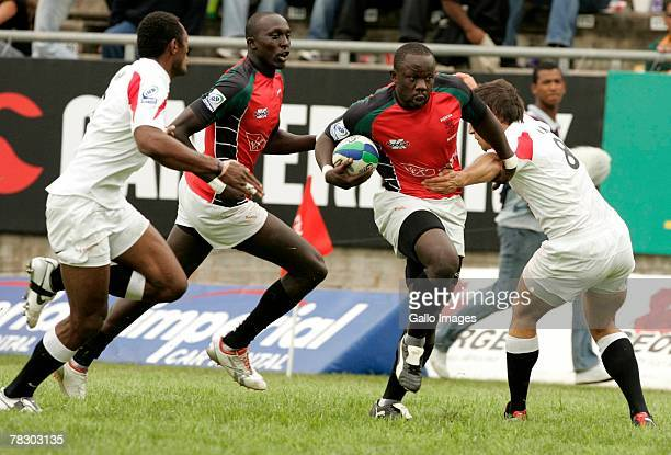 Victor Odour during the IRB World Sevens Series between England and Kenya held on December 7 2007 in George South Africa