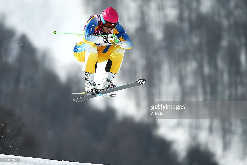 Victor Oehling Norberg of Sweden competes during the Freestyle Skiing Men's Ski Cross Seeding on day 13 of the 2014 Sochi Winter Olympic at Rosa Khutor Extreme Park on February 20, 2014 in Sochi, Russia.