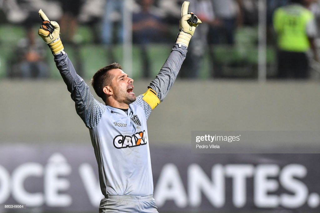 Victor #1 of Atletico MG a match between Atletico MG and Sao Paulo as part of Brasileirao Series A 2017 at Independencia stadium on October 11, 2017 in Belo Horizonte, Brazil.
