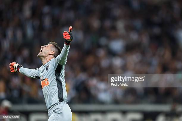Victor of Atletico MG celebrates the winning after the game against Flamengo during a match between Atletico MG and Flamengo as part of Copa do...