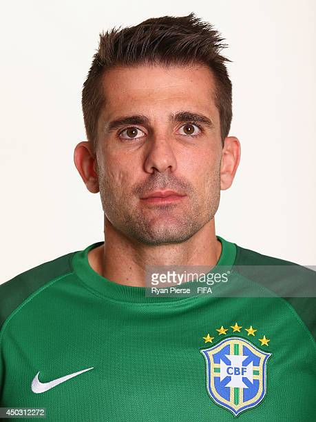 Victor of Brazil poses during the official FIFA World Cup 2014 portrait session on June 8 2014 in Rio de Janeiro Brazil