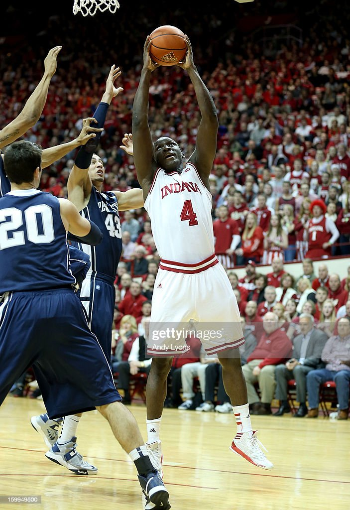 Victor Oladipo #4 of the Indiana Hoosiers shoots the ball during the game against the Penn State Nittany Lions at Assembly Hall on January 23, 2013 in Bloomington, Indiana.