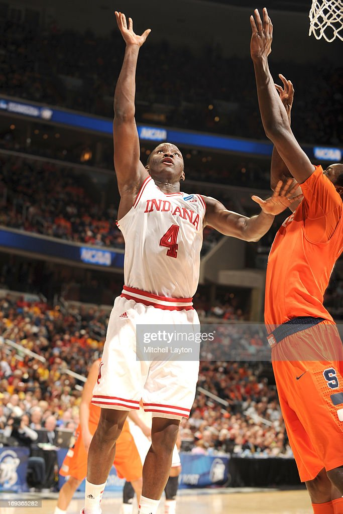 Victor Oladipo #4 of the Indiana Hoosiers takes a shot during the East Regional Round of the 2013 NCAA Men's Basketball Tournament game against the Syracuse Orange at Verizon Center on March 28, 2013 in Washington, DC. The Orange won 61-50.