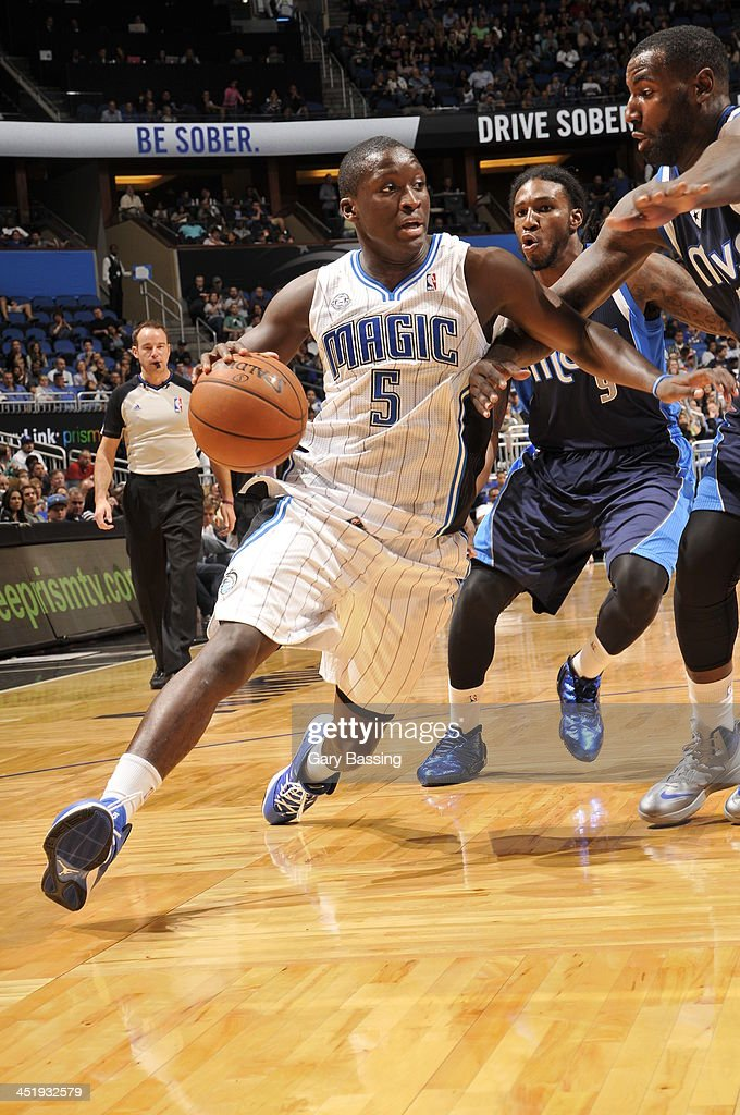 <a gi-track='captionPersonalityLinkClicked' href=/galleries/search?phrase=Victor+Oladipo&family=editorial&specificpeople=6681560 ng-click='$event.stopPropagation()'>Victor Oladipo</a> #5 of the Orlando Magic drives to the basket against the Dallas Mavericks on November 16, 2013 at Amway Center in Orlando, Florida.
