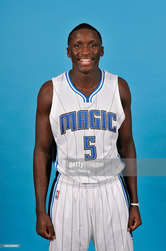 Victor Oladipo of the Orlando Magic poses for a photo during Orlando Media Day on September 29 2014 at Amway Center in Orlando Florida NOTE TO USER...