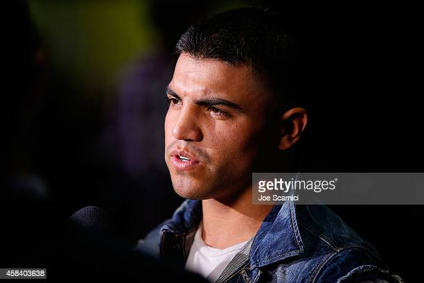 Victor Ortiz attends the Amir Khan Devon Alexander Fight Announcement at Conga Room on November 4 2014 in Los Angeles California