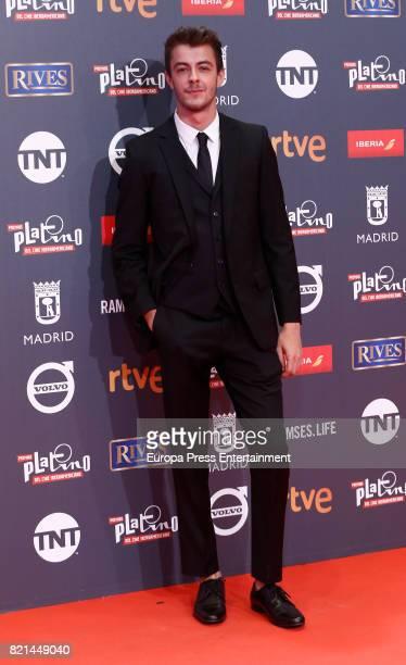 Victor Palmero attends Platino Awards 2017 at La Caja Magica on July 22 2017 in Madrid Spain
