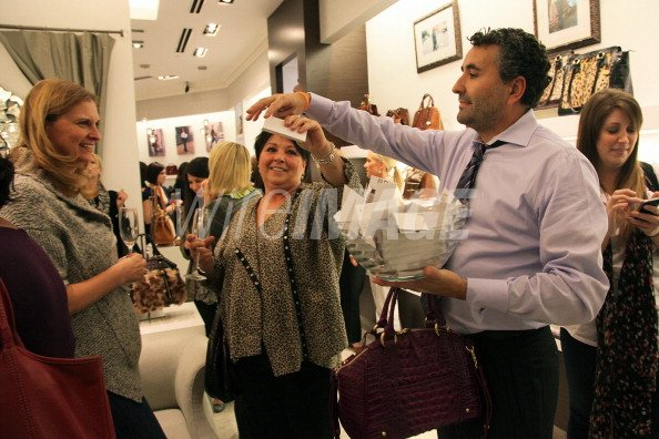 Victor Pereira Retail Director At Brahmin Presides Over A Handbag Wireimage 132203112