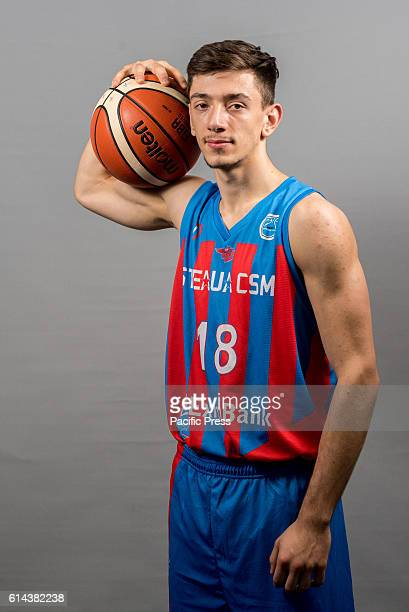 GARDA 'MIHAI VITEAZUL' BUCHAREST ROMANIA Victor Petrache of Steaua CSM EximBank Bucharest during the official photo session of Steaua CSM EximBank...