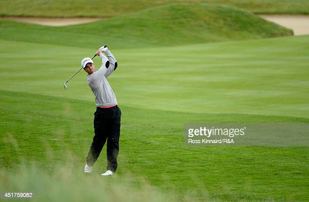 Victor Riu of France in action during the final round of the Alstom Open De France at Le Golf National on July 6 2014 in Paris France