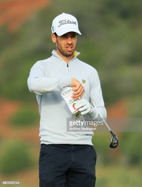 Victor Riu of France looks on from the 9th tee during day three of the Open de Portugal at Morgado Golf Resort on May 13 2017 in Portimao Portugal
