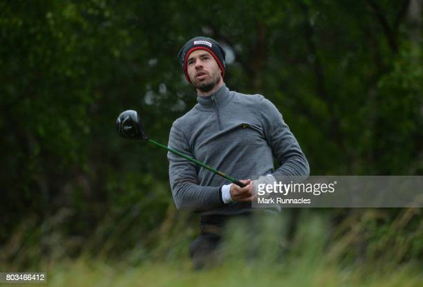 Victor Riu of France plays his tee shot to the 9th hole during the first day of the 2017 SSE Scottish Hydro Challenge hosted by MacDonald Hotels and...