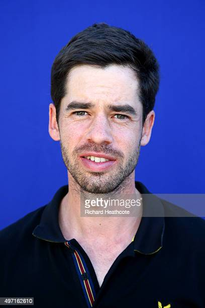 Victor Riu of France poses for a portrait after the first round of the European Tour Qualifying School Final at PGA Catalunya Resort on November 14...