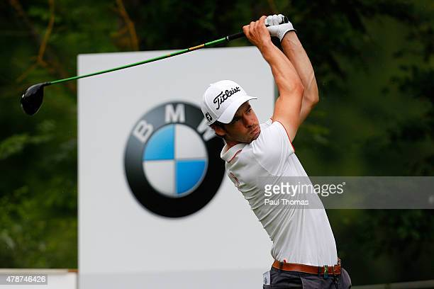 Victor Riu of France tees off during the BMW International Open day three at the Eichenried Golf Club on June 27 2015 in Munich Germany