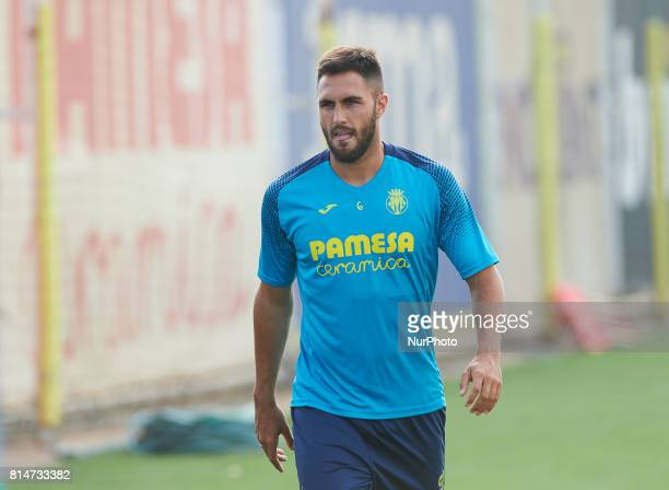 Victor Ruiz during the first week of Villarreal CF training session at Ciudad Deportiva of Miralcamp July 14 in Vilareal Spain