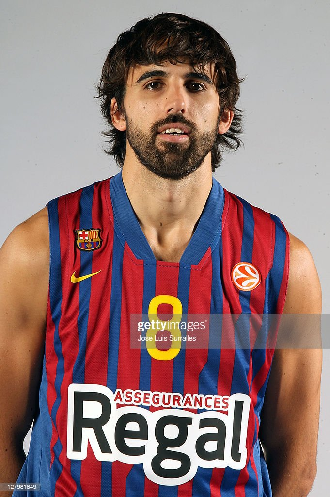 Victor Sada, #8 poses during the FC Barcelona Regal 2011/2012 Turkish Airlines Euroleague Basketball Media day at palau Blaugrana on October 4, 2011 in Barcelona, Spain.