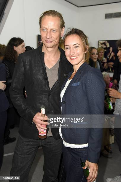 Victor Schefe and Maike von Bremen attend the 'Gabo Fame presented by Lumas' Exhibition Opening at HumboldtBox on September 9 2017 in Berlin Germany