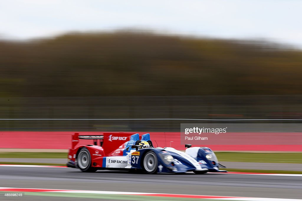 Victor Shaitar of Russia drives the #37 SMP Racing Oreca 03 Nissan LMP2 during qualifying for the FIA World Endurance Championship 6 Hours of Silverstone sportscar race at the Silverstone Circuit on April 19, 2014 in Northampton, England.