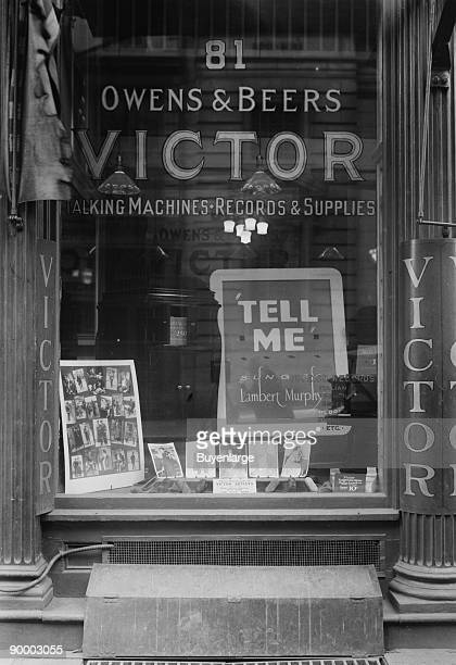 Victor Talking Machines Shop selling Records Supplies