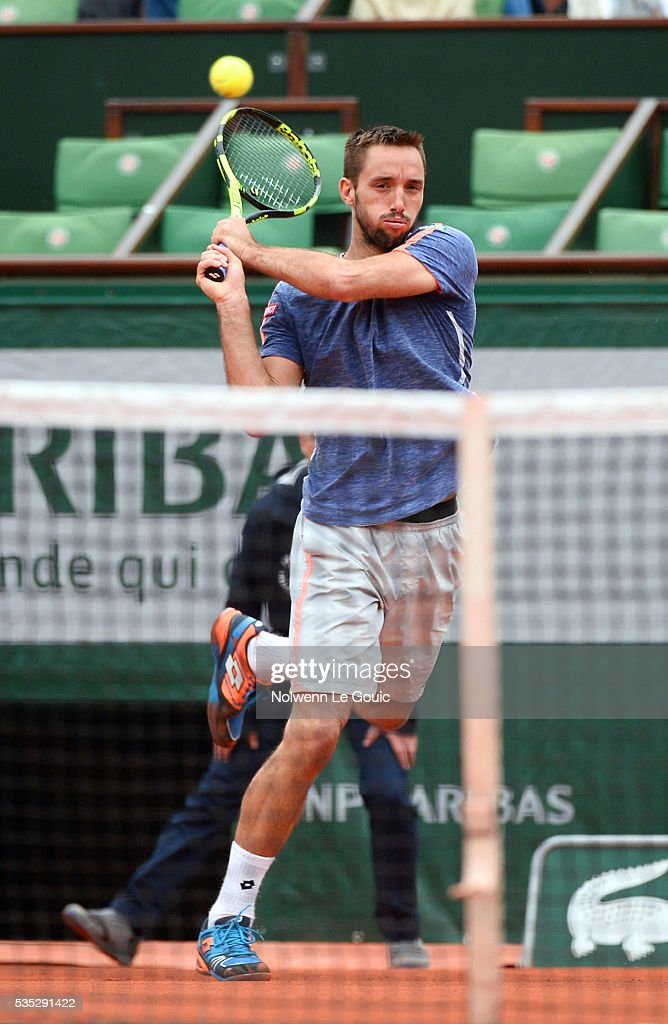 Victor Troicki during the Men's Singles on day eight of the French Open 2016 on May 29, 2016 in Paris, France.