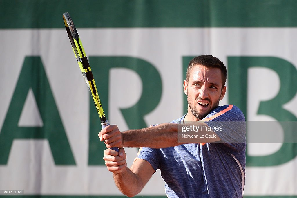 Victor Troicki during the Men's Singles third round on day six of the French Open 2016 at Roland Garros on May 27, 2016 in Paris, France.