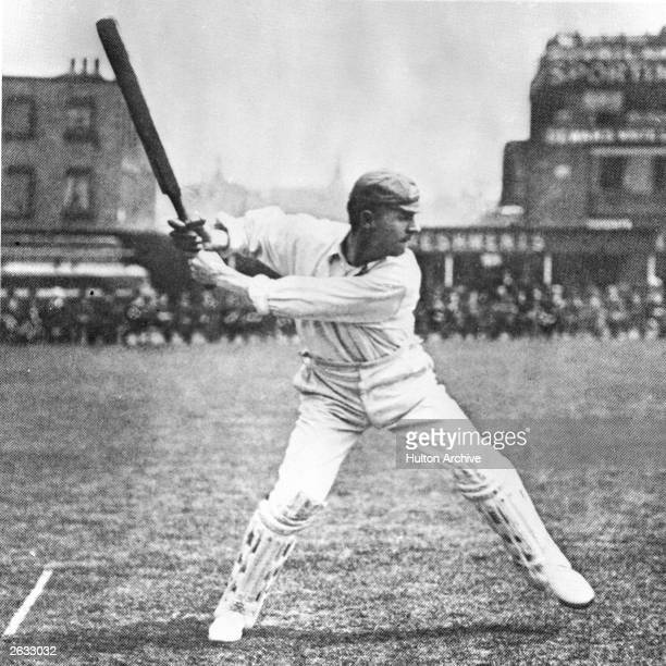 Victor Trumper Australian cricketer batting at the Oval Cricket Ground