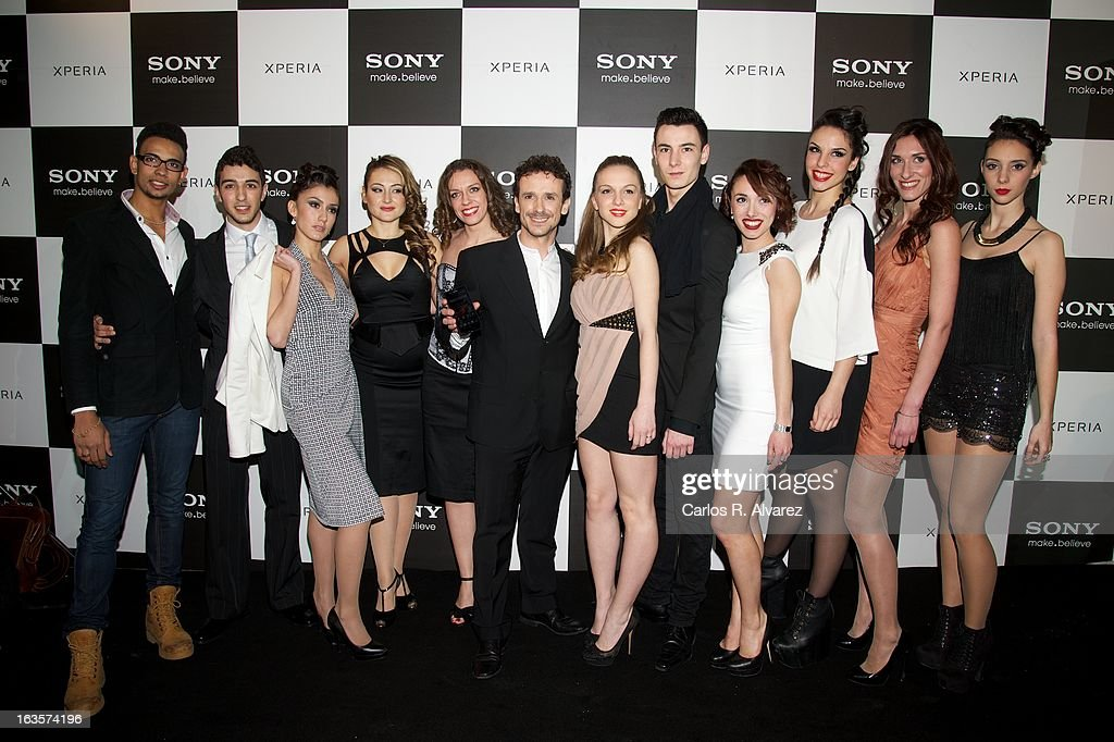 Victor Ullate (C) attends the Sony Mobile Gala premiere at the Callao cinema on March 12, 2013 in Madrid, Spain.