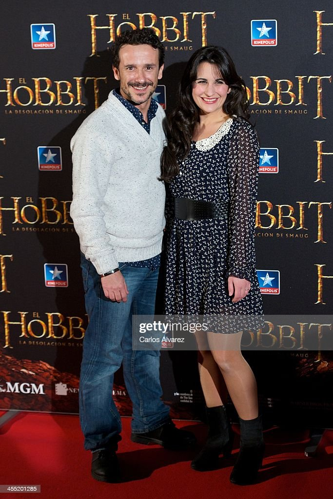 Victor Ullate Jr (L) attends the 'The Hobbit: The Desolation of Smaug' (El Hobbit: La desolacion De Smaug) premiere at the Kinepolis cinema on December 11, 2013 in Madrid, Spain.