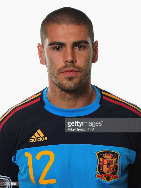 Victor Valdes of Spain poses during the official Fifa World Cup 2010 portrait session on June 13 2010 in Potchefstroom South Africa