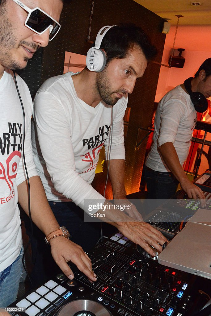 DJ Victor Valdez and Frederic Diefenthal attend the 'Renoma 50th Anniversary' at Renoma Store Rue de La Pompe on October 22, 2013 in Paris, France.