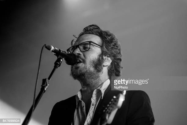 Victor Valiente of Sidonie performs on stage during Ebrovision Music Festival on September 1 2017 in Miranda de Ebro Spain