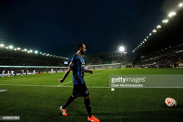 Victor Vazquez of Brugge collects the ball to take a corner during the Group B UEFA Europa League match between Club Brugge KV and Torino FC at the...