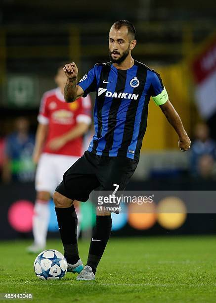 Victor Vazquez of Club Brugge during the UEFA Champions League playoffs match between Club Brugge and Manchester United on August 26 2015 at the Jan...