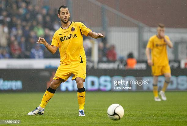 Victor Vazquez of Club Brugge KV in action during the Belgian Jupiler Pro League PlayOff Group 1 match between KAA Gent and Club Brugge KV held at...