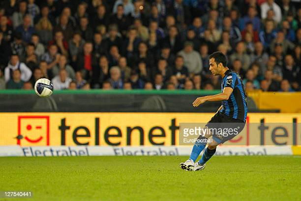 Victor Vazquez of Club Brugge KV in action during the Jupiler Pro League match between Club Brugge and RAEC Mons at the Jan Breydel Stadium on...