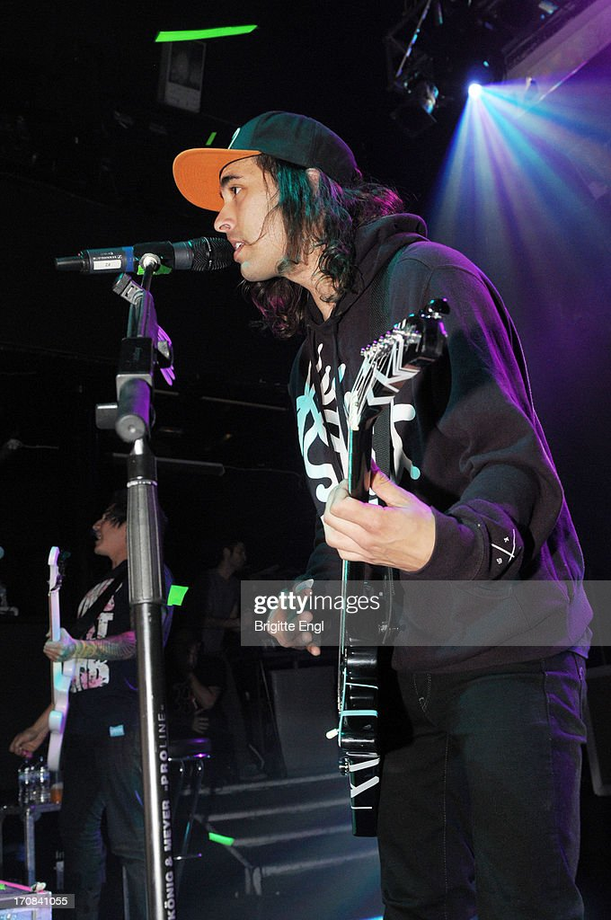 Victor 'Vic' Vincent of Pierce The Veil perform on stage at KOKO on May 17, 2013 in London, England.