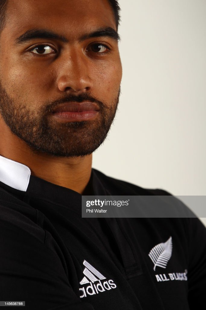 Victor Vito of the All Blacks during the New Zealand All Blacks headshot session at the Heritage Hotel on June 3 2012 in Auckland New Zealand