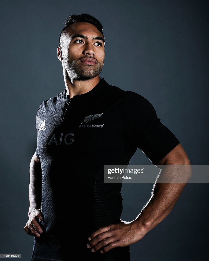 Victor Vito of the All Blacks poses during a New Zealand All Blacks portrait session on October 26 2014 in Auckland New Zealand