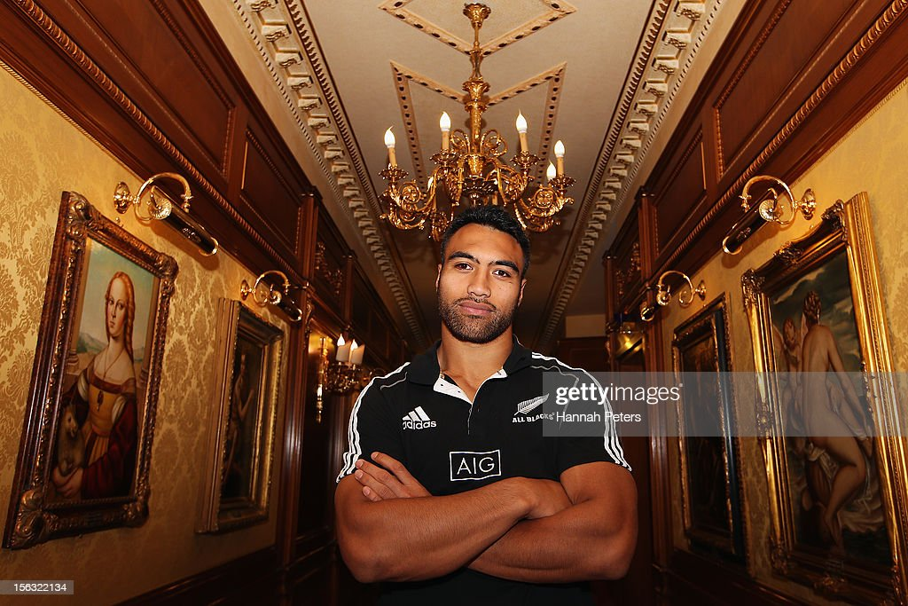 Victor Vito of the All Blacks poses for a photo in the Parco Dei Principi Hotel on November 13 2012 in Rome Italy