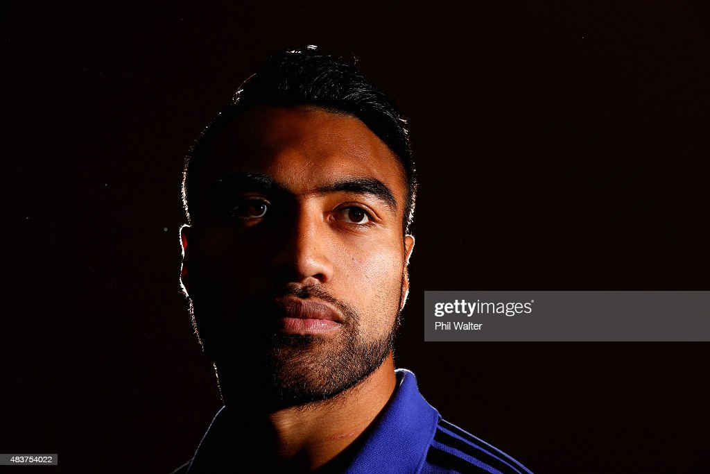 Victor Vito of the All Blacks poses for a portrait during a New Zealand All Blacks media session at the Heritage Hotel on August 13 2015 in Auckland...