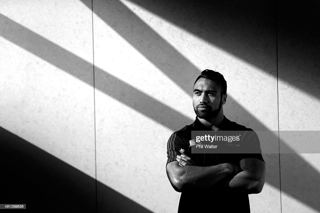 Victor Vito of the All Blacks poses for a portrait during a New Zealand All Blacks media session at Mowden Park on October 4 2015 in Darlington...